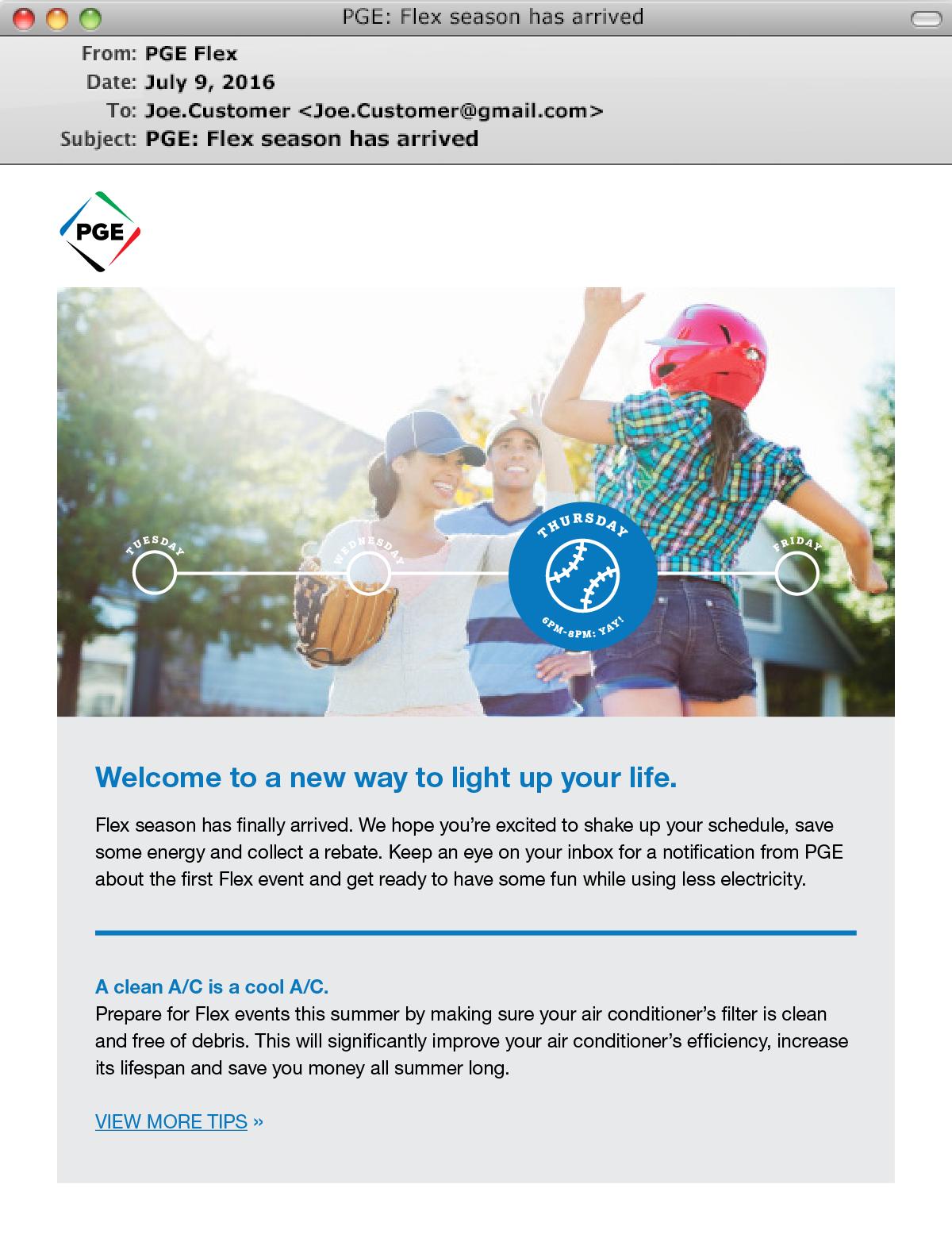PGE Flex Email